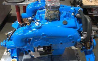 Oldtimer V8 Marinemotor