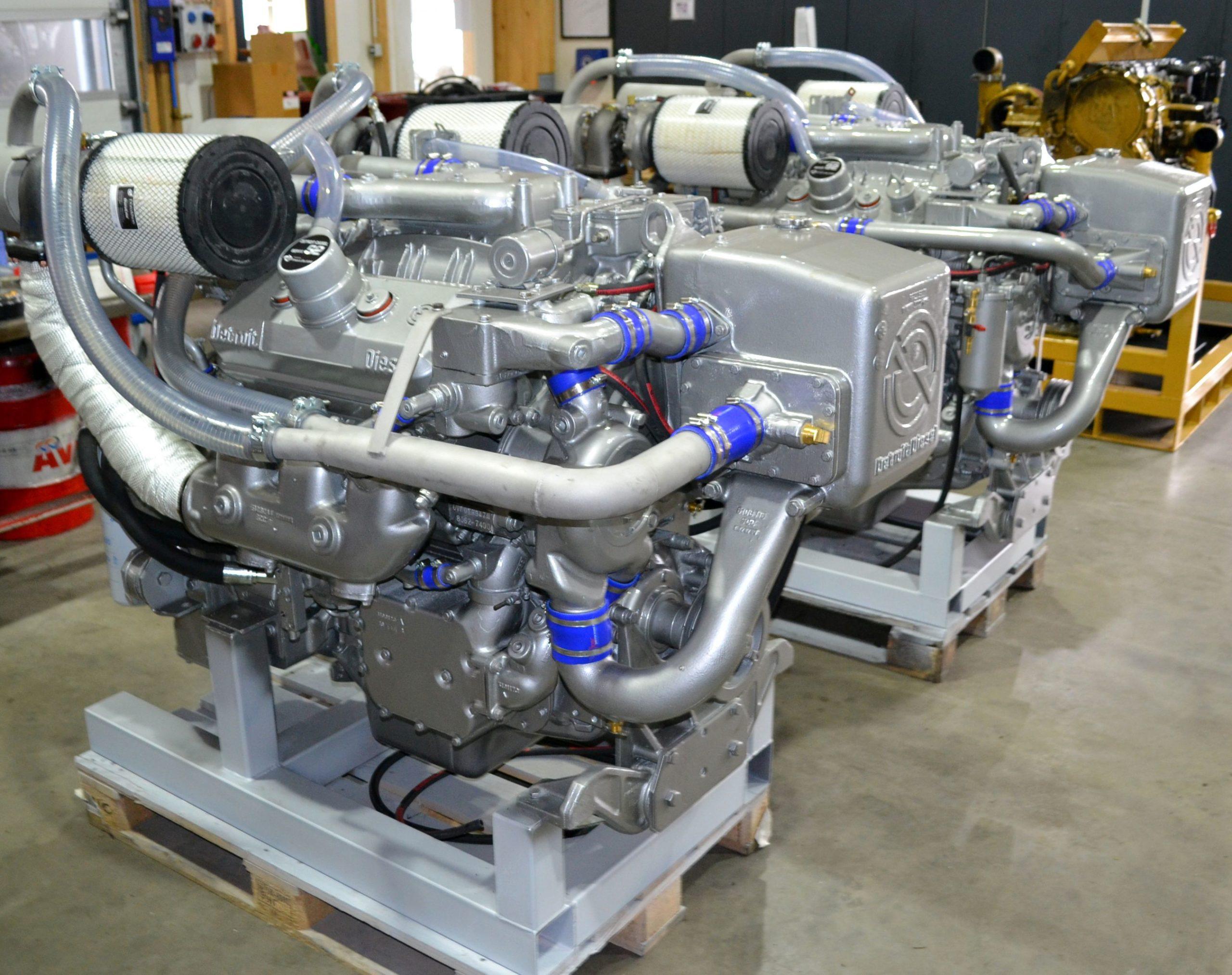 Restauration von 2 Detroit Diesel 6V92 Motoren